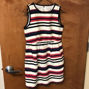 J Crew striped shift dress